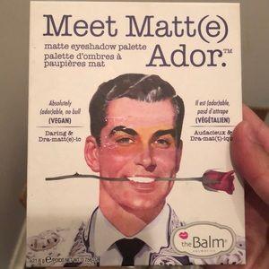 The Balm matte eyeshadow palette. New